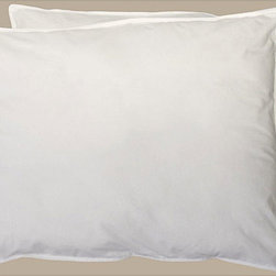 None - Organic Cotton Pillows (Set of 2) - Filled with lush hypoallergenic natural cotton fibers,these pillows are a refreshing addition to any bed. This pillow set features covers constructed of 240 thread count unbleached,undyed cotton fabric.