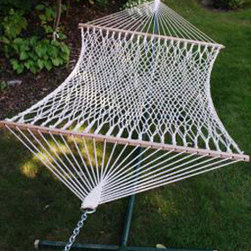 Algoma Net Company, Div. of Gleason Co - 11' Cotton Rope Hammock - Made for one, this 100% natural rope hammock is the perfect place to spend a restful afternoon. It's not only attractive it's also strong and comfortable.