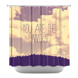 DiaNoche Designs - Shower Curtain Artistic - Universe - DiaNoche Designs works with artists from around the world to bring unique, artistic products to decorate all aspects of your home.  Our designer Shower Curtains will be the talk of every guest to visit your bathroom!  Our Shower Curtains have Sewn reinforced holes for curtain rings, Shower Curtain Rings Not Included.  Dye Sublimation printing adheres the ink to the material for long life and durability. Machine Wash upon arrival for maximum softness on cold and dry low.  Printed in USA.