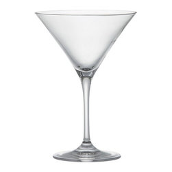 Viv Martini Glass - Everyday stemware, beautifully crafted from top to bottom. The classic V-shaped martini is finished with a smooth fire-polished rim and pulled stem. Exquisite clarity at an exceptional price.