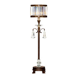 Fine Art Lamps - Fine Art Lamps 606215ST Eaton Place Brown Patina Table Lamp - 1 Bulb, Bulb Type: 60 Watt Candelabra; Weight: 23lbs