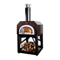 Chicago Brick Oven 500 Mobile Pizza Oven - Take flavor to the people with the Chicago Brick Oven 500 Mobile Pizza Oven! This pre-assembled wood-fired oven rides on a powder coated stand with smooth rolling casters so you can cook wherever you like on your back patio. This oven is made from insulating materials and a specially fabricated steel cabinet that creates a heating envelope for a quicker rise in temperature on the inside all while remaining cool to the touch on the outside. And speaking of the outside your new wood-fired oven comes in your choice of two color options. Best of all this convenient cart also gives you a handy place to store logs for the fire! About Chicago Brick Oven This USA-based company is all about taking the classic brick oven design and charging it with the best engineering and technology available today. It's a revolutionary idea that took shape at a friendly gathering in May of 2006 when three neighbors all keen on buying a wood-fired brick oven decided to save money and go in together. After doing the research these pals realized that most residential outdoor wood-fired ovens had to be imported to the USA and that didn't seem right at all. They wanted to make pizza - now - without the extreme wait and expense that comes from overseas shipping. Knowing they weren't alone in their passion for brick oven flavor they started Chicago Brick Oven to create the best cooking equipment stateside so no American would ever have to go struggle to purchase a quality wood-fired oven ever again.