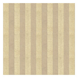 Metallic Gold Striped Beige Linen Fabric - Classic awning stripe with a modern metallic twist: gold foil printed on beige linen.Recover your chair. Upholster a wall. Create a framed piece of art. Sew your own home accent. Whatever your decorating project, Loom's gorgeous, designer fabrics by the yard are up to the challenge!