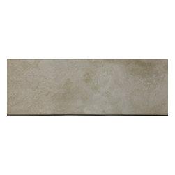 "Light Ivory Tuscany Travertine Both Sides Honed Saddle Threshold Sill 6""x48"" - Light Ivory Tuscany Travertine Both Sides Honed Saddle Threshold Sill 6""x48"""
