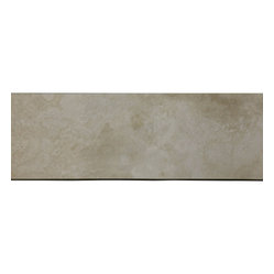 Light Ivory Tuscany Travertine, Saddle Threshold Sill - Light Ivory Tuscany Travertine