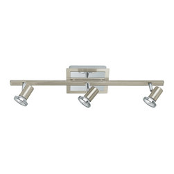 EGLO - Eglo 20939A Matte Nickel/Chrome 3X50W Track Light - EGLO 20939A Matte Nickel/Chrome 3X50W Track Light