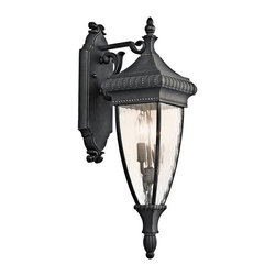 Kichler Lighting - Venetian Rain 2-lt Outdoor Wall Lantern - A traditional outdoor option, this 2 light wall fixture from the Venetian Rain collection draws upon the rich legacy of the Renaissance.