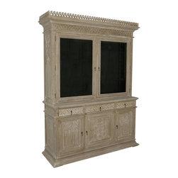 Noir furniture - NOIR Furniture - Marguee Hutch in Weathered Grey - NOIR Furniture - Marguee Hutch in Weathered Grey - HUT114WEA