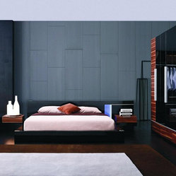 Exclusive Leather Designer Bedroom Set with Extra Storage