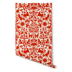 Otomi Wallpaper, Red