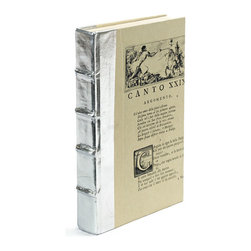 Go Home - Single Metallic Silver Book - Single Metallic Silver Books express personality and concentrate light with their gleam.These book sizes may slightly vary.