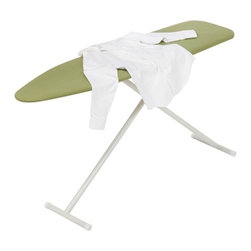 Ironing Board Metal T-Leg 53X13 - Honey-Can-Do BRD-01408 T-Leg Ironing Board, White / Green. Solid and sturdy, this quality ironing board boasts all-steel construction.  A versatile height adjustment feature provides comfortable and safe ironing at any level from 26 to 36 inches high.  The 100% cotton soft green cover and integrated  foam pad provides a smooth ironing surface every time.