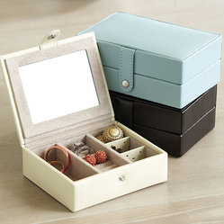 Hadley Leather Travel Jewelry Box
