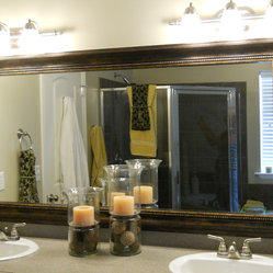 Mirror frame kit for modern & traditional spaces. This frame adheres ...