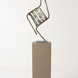 """Anthropologie - Dancing Chair By Pierre Malbec - One of a kindIron, wood63""""H, 18""""W, 10""""DFrance"""
