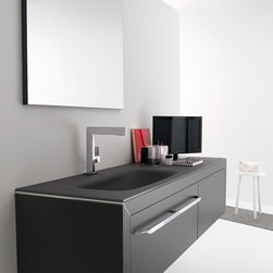 Azzurra - Azzurra | Azzurra Made 01 Vanity Set - Made in Italy by Azzurra.A part of the Made Collection. For a simple organizational upgrade, choose the Made 01 Vanity Set from Azzurra that is a complete and compact vanity set perfect for any modern bathroom. The Made 01 Vanity Set includes a large square mirror for high-quality reflections, a sink, a wide deep drawer for optimal storage capability, and a smaller side drawer component for additional storage. Select from a wide range of colors to create your ideal modern bath theme. Product Features: