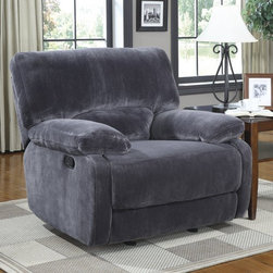 PRI - Walcott Glider Recliner in Rhino Charcoal - 735-002-130 - Walcott Collection Glider Recliner