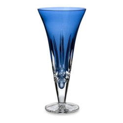 Waterford - Waterford Lismore Sapphire 9-Inch Vase - Plunged into a deep sapphire blue for a rich and striking look, this 9-inch vase is both timeless and elegant. Featuring the traditional Lismore cut, this vase make a statement and beautifully displays its contents. Crystal. Imported.