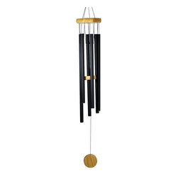 Great World - 32 Inch Octagon Wood Top Tuned Metal Wind Chime in Black Color - This gorgeous 32 Inch Octagon Wood Top Tuned Metal Wind Chime in Black Color has the finest details and highest quality you will find anywhere! 32 Inch Octagon Wood Top Tuned Metal Wind Chime in Black Color is truly remarkable.
