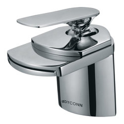 "Dyconn Faucet - Dyconn Faucet 4-1/2-Inch Contemporary Modern Waterfall Bathroom Sink Faucet, Pol - Upgrading your bathroom is easy with our Dyconn 4"" Polished Chrome Waterfall Bathroom Sink Faucet. The waterfall style and stunning finish makes this design both functional and a classy addition to any home. Whether your decorating style is traditional or modern, our products will compliment your home improvement project and add a lavish, luxurious feel while protecting your health, safety and the environment. All of our faucets comes with a 3 year manufacturer warranty. Package includes faucet, Hot & Cold water hoses, mounting hardware and installation instructions."