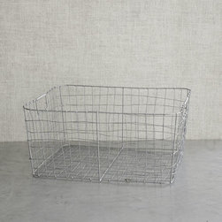 Wire Mesh Storage, Rectangular Tray - Perfect for corralling laundry supplies like linen spray, stain remover and soap, this wire basket makes for a pretty display. Even with rolled towels, stacked hangers, mesh bags, etc., these are an all-around perfect storage solution.