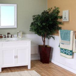 Bellaterrra - Bellaterra 600168 36 In Single Sink Vanity-Wood-White - 36x22x36 in. - Bellaterra 600168 36 In Single Sink Vanity-Wood-White  - 36x22x36 in.