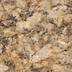 Persian Pearl - This granite has significant movement from the veining and mica and can pick up a number of different colors in a kitchen design. Would definitely work with natural wood or painted cabinets