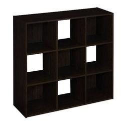 CLOSETMAID - 9 Cube Organizer Espresso - Provides storage space. Features nine cubes and three staggered back panels.