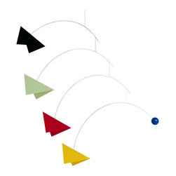 Flensted Mobiles - Mirage Mobile, Large - Give your new addition something fun to focus on with this flourish of colors and shapes. This mobile was designed to catch a new baby's wandering eye.