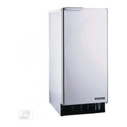 """Hoshizaki - AM-50BAE 33.5"""" Undercounter/Self-Contained Ice Maker with Full Size Crescent Cub - The Hoshizaki undercounter ice maker is compact powerful and versatile this ice maker is perfect for low demand venues stadium or executive suites patio bars lake houses nurse39s stations and more and is UL listed for outdoor use This ice maker produ..."""