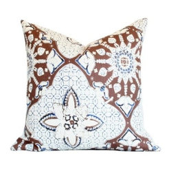 New Batik Pillow, Brown