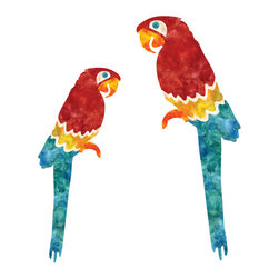 My Wonderful Walls - Macaw Wall Stickers - Set of 2 - - Set of 2 colorful macaw bird decals