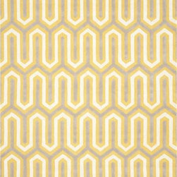 Safavieh - Safavieh Cambridge CAM351Q 6' Round Gold, Grey Rug - Bring classic style to your bedroom, living room, or home office with a richly-dimensional Safavieh Cambridge Rug. Artfully hand-tufted, these plush wool area rugs are crafted with plush and loop textures to highlight timeless motifs updated for today's homes in fashion colors.
