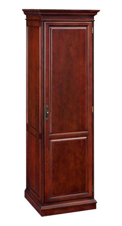 DMi Furniture - DMi Keswick Single Door Wardrobe - DMi Furniture - Wardrobe Armoires - 799005 - The Keswick Collection offers unmatched luxury in a traditional office environment with it's impeccable English Cherry finish and refine styling.