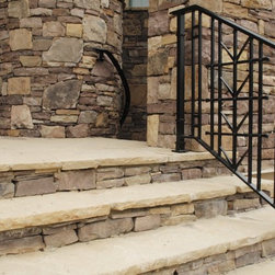 Exterior Handrail - This simple but elegant handrail is created from hand-forged steel.