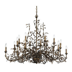 Crystorama - Crystorama 888-P18-EB Chandelier - Whether you choose Silver Leaf or Dark Rust, the Victoria Collection, dressed in Swarovski Spectra crystal, remains light and airy and can coordinate with any decor.