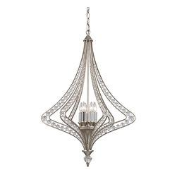 ELK Lighting - Elk Lighting Ventoux Chandelier - Ventoux Collection 6 light chandelier in Satin Silver