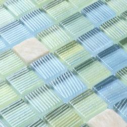 2013 New glass stone metal blend mosaic tile for kitchen backsplash STG0072 - Collection: Stone Glass Mosaic