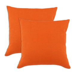 Sands - Breezy Sundeck Orange Indoor-Outdoor Accent 17 inch Throw Pillows (set of 2) - Add a modern touch to your home and outdoor with these decorative accent pillows. These throw pillows are designed to accent you home and your outside patio. This soft but durable fabric will accent any room and give you home inside or outside space a stylish look