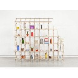 ecofirstart.com 4 - Divider is a room divider annex shelving system designed by Studio Mieke Meijer. It is the first design in a new interior series based on lattice constructions. Lattice constructions are extremely lightweight but stable structures which enable large spans with a minimal use of materials. Lattice girders can be found in, for example, bridges and buildings, but also in aircraft wings. A lattice construction is a framework composed of several parts that will be assembled in triangular shapes in order to form an undeformable unity. Divider consists of thin oak slats connected by steel plates and rivets with an industrial character. The addition of glass shelves creates a storage function in which the transparent, light-weight nature of the design is maintained. Divider deals with demarcating spaces using construction. It forms a semi-open or closed separation between users or functions as a shelving system. The functional, elegant and industrial character of it is typical of the work of Studio Mieke Meijer. In essence Divider is more than a shelving system. It is a creative and flexible building system that offers infinite possibilities. Within the Divider system variations in height, length, depth, composition, form, color and material are possible. Beside this closed volumes can be created by adding panels and boxes. The system allows customized solutions. Divider was first shown as part of the exhibition by collective Dutch Invertuals presented during Dutch Design Week 2012 in Eindhoven. The exhibition included new works by various designers from various disciplines around the theme of 'Conflict'.