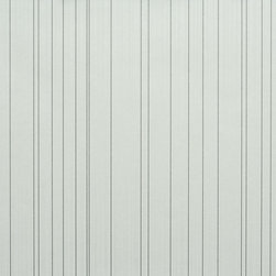 Walls Republic - Striped Cool Grey Wallpaper S43738, double roll - Striped is a simple pinstriped wallpaper with a fine stripe. It has a simple casual look that is great for any space. Use it in your powder room for a simplistic unadorned look.