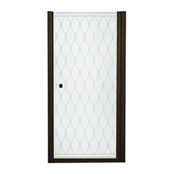 "STERLING Finesse(TM) Frameless Hinge Shower Door - Height 65-1/2"", Max. Opening"