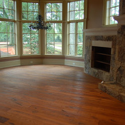 """Hardwood Flooring - European Oak flooring shown as a solid prefinished plank flooring option. Also available unfinished for onsite finish or engineered. Our engineered European Oak floors are available up to 32"""" in face width. Prices will vary based on width and wood grade."""