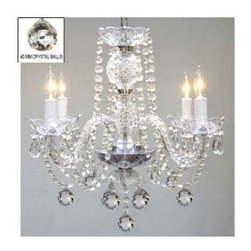 Gallery - Gallery T40-123 Murano Venetian 4 Light 1 Tier Crystal Candle Style Chandelier - Features: