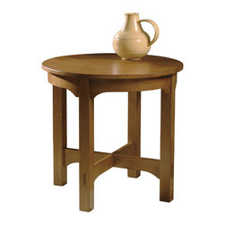 Hekman - Arts & Crafts Round Starting End Table - This is a beautiful piece of top-quality furniture that's perfect for your Man Cave, Game Room, Office or anywhere you would like to decorate and show your personal style.