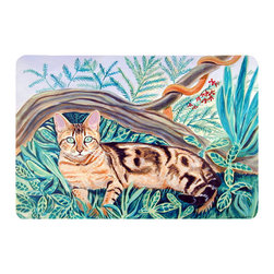 Caroline's Treasures - Cat - Maine Coon Kitchen Or Bath Mat 24X36 - Kitchen or Bath COMFORT FLOOR MAT This mat is 24 inch by 36 inch.  Comfort Mat / Carpet / Rug that is Made and Printed in the USA. A foam cushion is attached to the bottom of the mat for comfort when standing. The mat has been permenantly dyed for moderate traffic. Durable and fade resistant. The back of the mat is rubber backed to keep the mat from slipping on a smooth floor. Use pressure and water from garden hose or power washer to clean the mat.  Vacuuming only with the hard wood floor setting, as to not pull up the knap of the felt.   Avoid soap or cleaner that produces suds when cleaning.  It will be difficult to get the suds out of the mat.