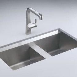 KOHLER - KOHLER K-3672-NA 8 Degree Offset Double Basin Kitchen Sink - KOHLER K-3672-NA 8 Degree Offset Double Basin Kitchen Sink