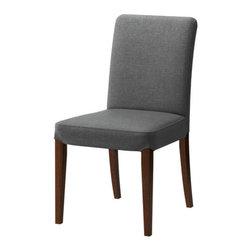 IKEA of Sweden - HENRIKSDAL Chair - Chair, brown, Svanby gray