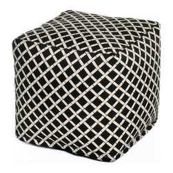 HRH Designs Inc - OC Fun Saks Cube Bamboo Pouf - HRH-SQ011 - Shop for Ottoman & Footstools from Hayneedle.com! Give your feet a little pick-me-up when you put them down on the OC Fun Saks Cube Bamboo Pouf. Inspired by the classic bean bag with a touch of modern style this cube-shaped piece features a cotton body that's stuffed with polyurethane beads. On the outside you have a durable polyester cover with a bamboo motif on a field of jet black. The cover is removable and machine-washable making it perfect for use indoors or out by the pool.About OC FunsaksFor those not in the know OC is Orange County and that laid-back wind-in-the-hair charm that you only find on the coast is evident on every OC Funsaks product. Everything they offer is made in the USA with high-quality inserts and durable custom-designed slipcovers that give you the best in modern bean-bag charm. OC Funsaks is a new company that's got designs and quality that will keep them around for quite awhile.