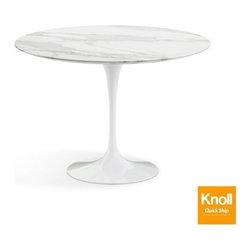 Knoll - Knoll | Saarinen 42-Inch Round Dining Table, Carrara Marble - Quick Ship - Design by Eero Saarinen, 1956.